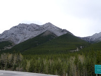 Wasootchfrom Nakiska turnoff at end of day. Second summit with cloud behind it.