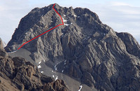 Commonwealth scramble route. Do not forget water shoes for approach!!