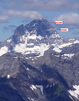 Assiniboine - N ridge - most of route is not visible from this angle.