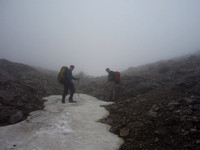 On the way up to a col west of Belmore Browne. Could not have done trip without a GPS.