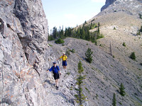 coming back around the buttress